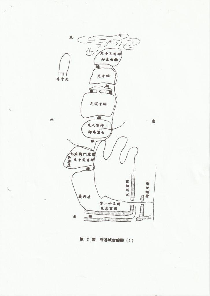 文化元年守谷古城図