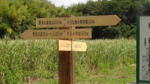 山王口の方向指示板